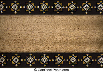 background with patterned border