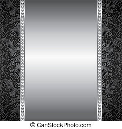 Background with pearl and silver frame