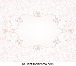 Background with pearl frame