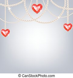 Background with pearl jewelry
