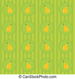 background with pears on green