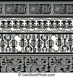 background with Peruvian patterns - seamless pattern with...