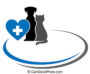 background with pets and heart - background with pets, heart...
