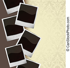 Background with photo frames. Abstract illustration