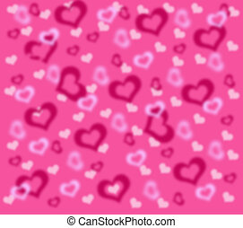 Background with pink and white to hearts