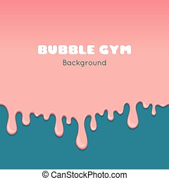 Background with pink bubble gum. - Vector background with...