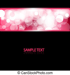 Black abstract background with pink glowing lights