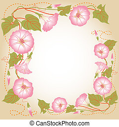 Background with pink Morning glory - Beautiful background...