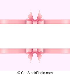 Background with pink ribbons