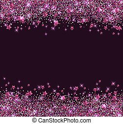 Background with pink shining stars - Abstract vector glitter...