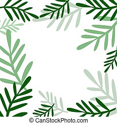 Background with plants vector illustration