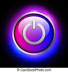 Background with power button