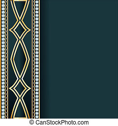 Background  with precious stones, gold