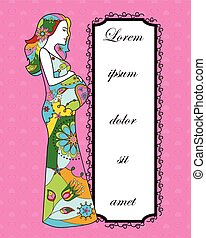 Background with pregnant woman