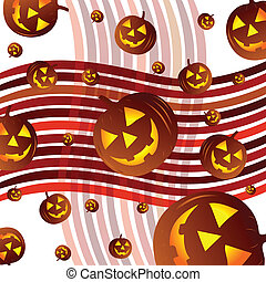 background with pumpkins illustrati