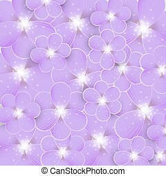 Background with purple flowers
