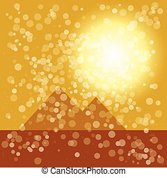 background with pyramid illustration