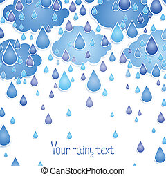 background with rain drops for the text.