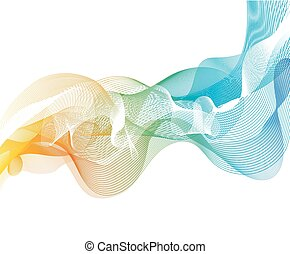 Background with rainbow lines - Abstract background with...