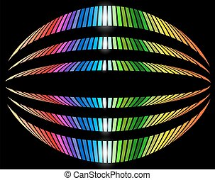 Background with rainbow striped pattern