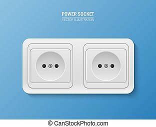 Background with realistic power socket