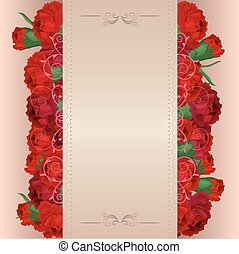 Background with red carnations