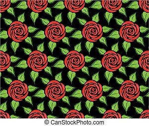Background with red flowers.