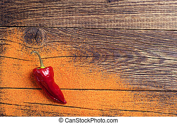 Background with red hot peppers
