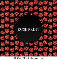 Background with red roses. Vector illustration