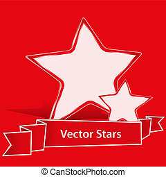 Red Vector Stars