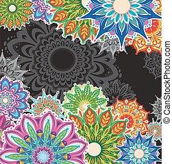 Background with round patterns