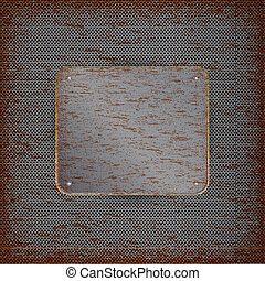 Background with rusted metal texture