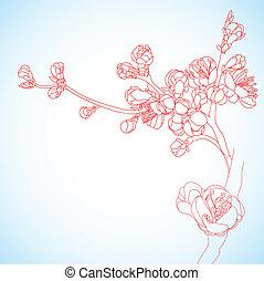 background with sakura flowers