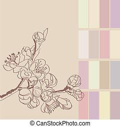 background with sakura twigs