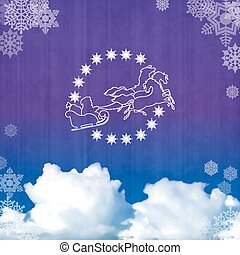 Background with Santa's sleigh