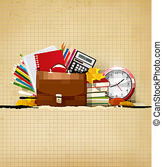 Background with school supplies - Back to school Background...