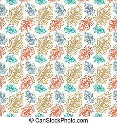 background with seamless floral pattern in antique style