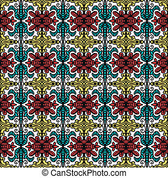 background with seamless pattern in ethnic style