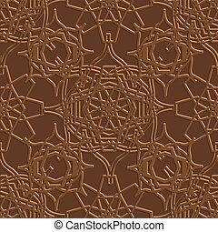 Background with seamless pattern in Islamic style. Vector
