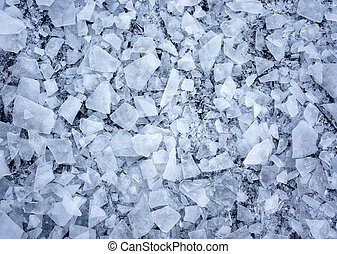 shattered ice - Background with shattered ice on lake in...