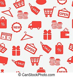 background with shopping icons