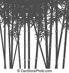 Background with silhouettes of bamboo