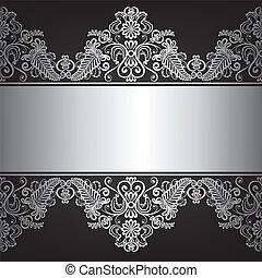 jewelry frame - Background with silver jewelry frame