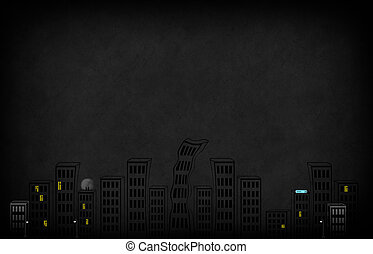 Background with sketchy city