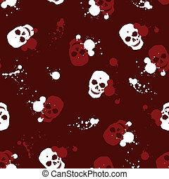 background with skulls