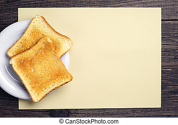 Background with slices of toast