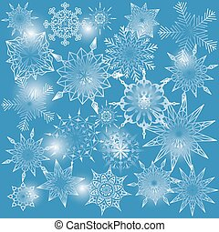 Background with snow flakes