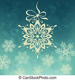Background with snowflake.