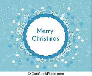 Background with snowflakes and place for text Merry Christmas