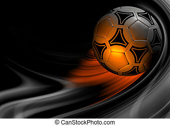 Background with soccer ball.